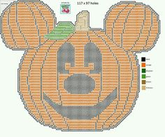 MICKEY MOUSE JACK-O'-LANTERN by LISA HEATHER*LILCHERRY DESIGNS -- WALL HANGING 2/2