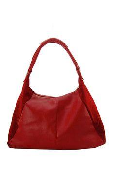 Maxine Couture Bijou Leather Hobo Bag