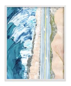 """""""Pacific Coast Highway"""" - Art Print by Denise Wong in beautiful frame options and a variety of sizes."""