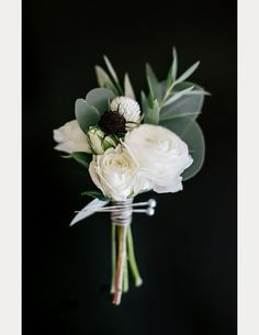 Classic white bout with a pop of black ~ we ❤ this! moncheribridals.com