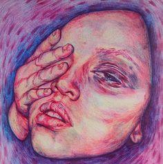 Ink Pen Drawings, Ballpoint Pen, Colored Pencils, Colour, Portrait, Instagram, Art, Colouring Pencils, Color