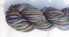 Hand Dyed Yarn 100g Skein of fingering weight yarn - OOAK colourway called 'Moody Bird' - On the FABULOUS Base 4-ply Super Wash Merino by SnugglyStarsYarns on Etsy