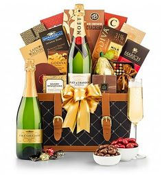 Champagne Wishes Champagne Gift Basket