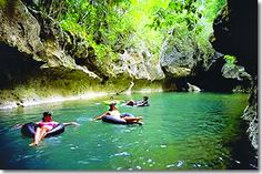 """Belize """"Grand Adventure""""  Tubing fresh water from underground caverns- I'm a kid again!"""