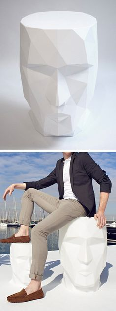 Faceted Skull Furniture