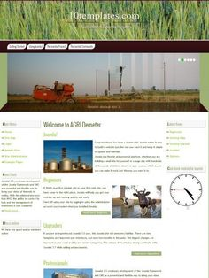 Demeter Free Agriculture Joomla 3.0   3.5 Template