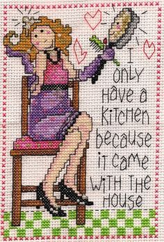 0 point de croix femme cuisine crepes - cross stitch woman kitchen pancakes cooking