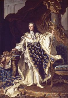 Louis XV, aged 20, by Hyacinthe Rigaud (1659–1743)  16th of February, 1723: Louis XV is officially proclaimed King of France.  Vive le Roi!The era of rococo is officially starting! That's why rococo style is named alternatively the Louis XV style.