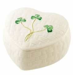 Belleek Kylemore Trinket Box (Heart)