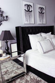 black furniture bedroom ideas. Black \u0026 White Bedroom Decor | Chic, Glam Blondie In The  City Hayley Larue Chanel Black Furniture Bedroom Ideas F