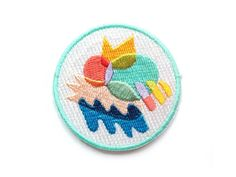 Colour Club Iron On Patch - Embroidered Patch - Woven Patch - Mokuyobi Threads - Patches for Jeans - Cute Patches - Patches for Jackets by rabbitandtheduck on Etsy https://www.etsy.com/listing/266872084/colour-club-iron-on-patch-embroidered