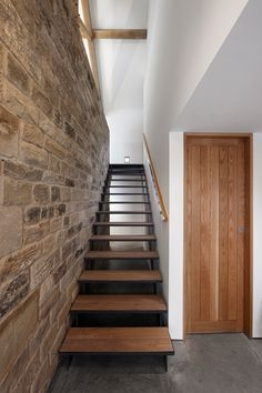 Stair inspiration from a contemporary renovation of a 16th century barn in Sheffield, England.