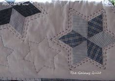 hand quilting with stars :)
