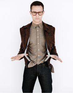 Joseph Gordon Levitt & suspenders. love.