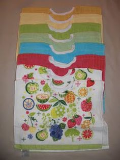 Dish Cloth Bibs---good idea! They always have so many cute dish towels