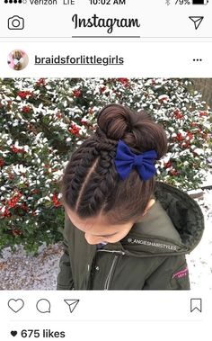Peinado recogido para el diario (kid hair braids styles)