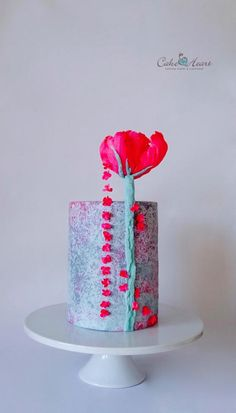 'A Pink Blossom Tree' ~ Sugar Art 4 Autism Collaboration - Cake by Cake Heart