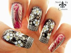31DC2014 - Delicate Print: Recreation of Lizza's Kimono Inspired Mani #nails #nailart #nailstamping #moyoulondon