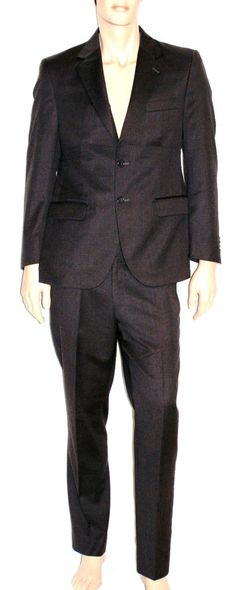 Wonderful Dark Grey Man Suit All Wool Branded  ENRICO COVERI Completo Uomo Giacca Pantaloni Grigio Scuro 100% Lana Tasmania Taglia 48/50 di BeHappieWorld su Etsy