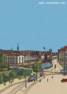 Ansichten Zürich - Serpentina Hagner Zürich Paris Skyline, Travel, Viajes, Trips, Traveling, Tourism, Vacations