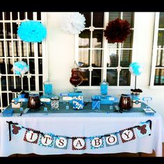 My baby shower candy buffet.