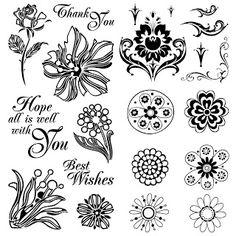 Free 17 Digi Stamps Flowers
