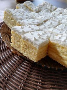 Citromos szelet, ha valami egyszerű és nem túl édes sütire vágysz! - Egyszerű Gyors Receptek Hungarian Recipes, Cake Cookies, Camembert Cheese, Breakfast Recipes, Sweet Tooth, Pie, Sweets, Chocolate, Baking