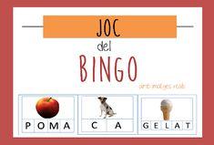 JOC DEL BINGO_català per treballar lectoescritura.