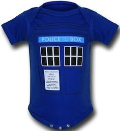 Doctor Who Tardis Baby Bodysuit
