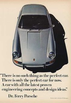 Porsche 911 with the words of Ferry Porsche