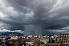 Hail over Vancouver. Daniel Stephan Pendygrasse, photo Here And Now, The Last Time, Monster Energy, Extreme Weather, Niagara Falls, Location History, Vancouver, Dolores Park, Infographic