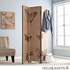 Holly and Martin Mariposa Room Divider. Get light from window but shield from prying eyes at the same time.