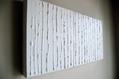 DIY art with glue....can we do this and paint each one a different bright color? all different sizes of canvas....