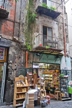 Shop in old town, Naples, Italy. Places In Italy, Places To Go, Capri, Sorrento, Napoli Italy, Living In Italy, Southern Italy, Amalfi Coast, Sicily