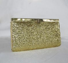 Gold, Glitter clutch, DIY