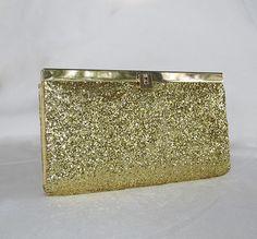 Gold, Glitter clutch, DIY