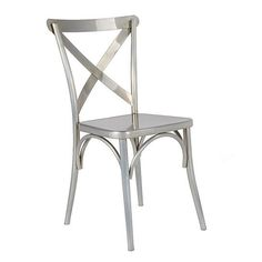 A strikingly modern dining chair, the Jenbo Dining Side Chair has a slightly rounded back created with two curved bars criss-crossed. A solid seat set on 4 legs with elegant arch designs for added beauty. A trendy design for your sitting area. color: Gunmetal