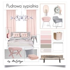 Pudrowo #pink #interiordesign #bedroom #moodboard #home #homedesign #furniture #bed #collage