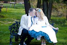 Rockabilly wedding. LOVE!
