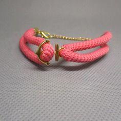 Spécial été, bracelet paracorde ancre marine.