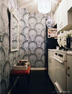 farrow & ball's lotus in ryan korban's kitchen.  lonny.