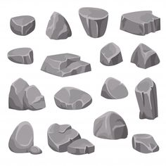 Find Rocks Stones Flat Isolated Elements Different stock images in HD and millions of other royalty-free stock photos, illustrations and vectors in the Shutterstock collection. Design Set, Pixel Art, Drawing Rocks, Art Environnemental, Environmental Art, Art Studies, Texture Painting, Art Inspo, Game Art