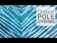 This tutorial shows you how to dye fabric using the Shibori pole dyeing method which creates a striped pattern. You can experiment by wrapping the pole in di...