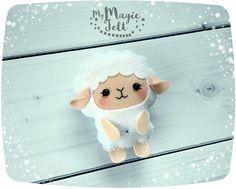 Sheep Ornament cute animals ornamnt Felt Lamb Easter ornament