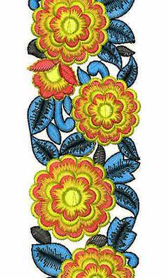 Latest Calcutta Lace Embroidery Design