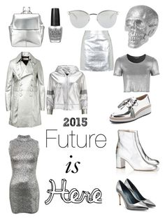 """Can we just start to wear silver already?"" by nathaliagoomes on Polyvore featuring moda, Topshop, OPI, Loeffler Randall, Fendi, Kin by John Lewis, Sergio Rossi, Camilla Elphick, Norma Kamali e Yves Saint Laurent"