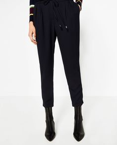 Image 2 of DRAWSTRING TROUSERS from Zara