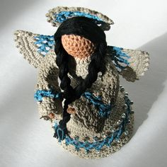 Nizhoni American Indian Angel Figurine by HeritageHeartcraft
