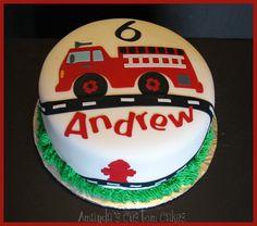 Easy Fire Truck Birthday Cake | Amanda's Custom Cakes: Pretty pink cupcakes and fire trucks cakes!