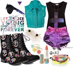 """""""Young & Wild."""" by emo4sasuke ❤ liked on Polyvore"""